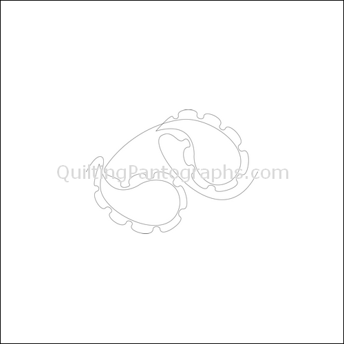 Paisley Cogs - quilting pantograph