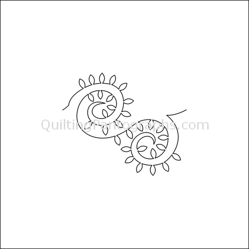 Paisley Prongs - quilting pantograph