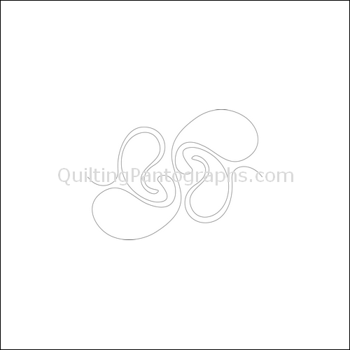 Paisley Swirls - quilting pantograph