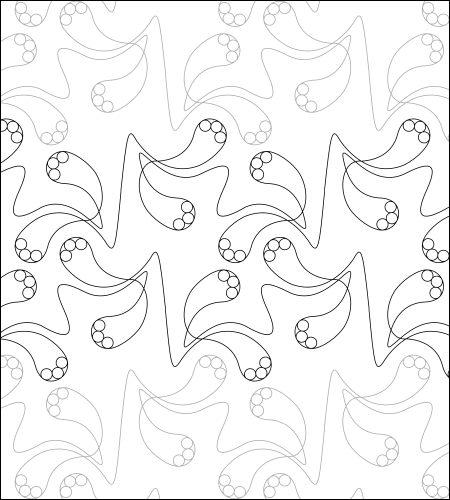 Polly Paisley - quilting pantograph