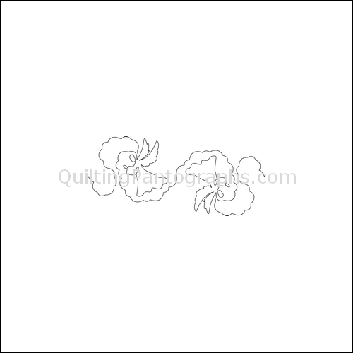 Angel Cloud - quilting pantograph