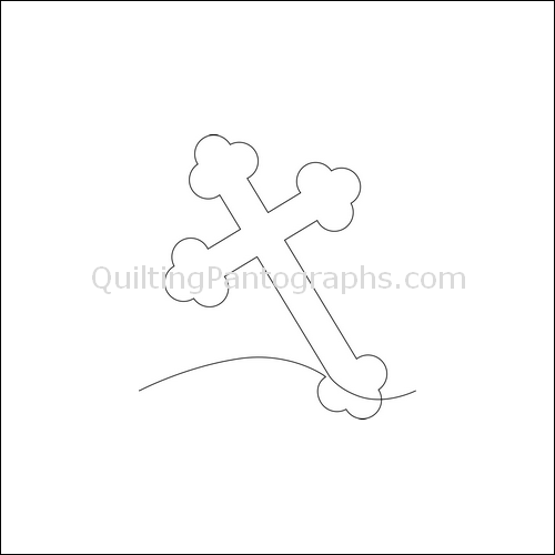 Judy's Cross - quilting pantograph