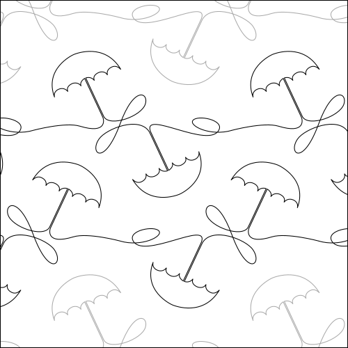Umbrella Loops - quilting pantograph