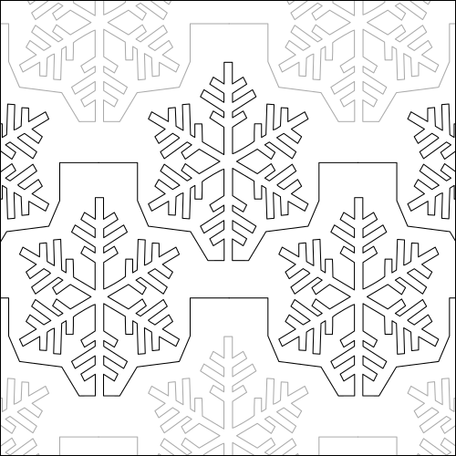 January Snowflake - quilting pantograph