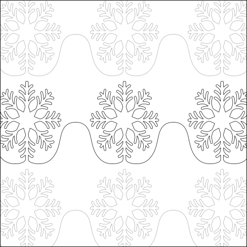 Suzy Snowflake - quilting pantograph