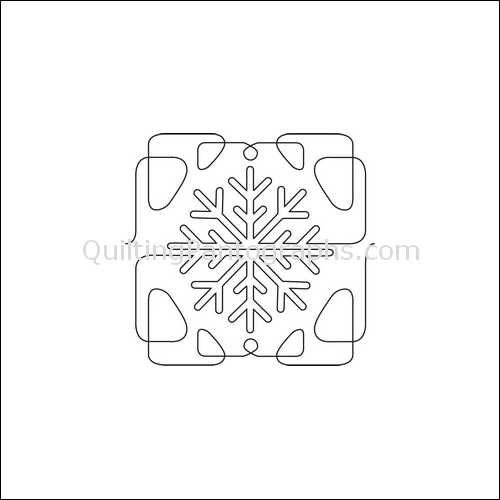 Winter Snowflake Border - quilting pantograph