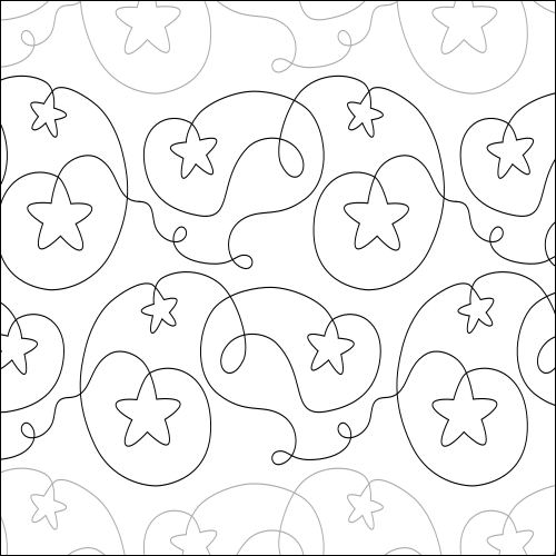 Falling Stars - quilting pantograph