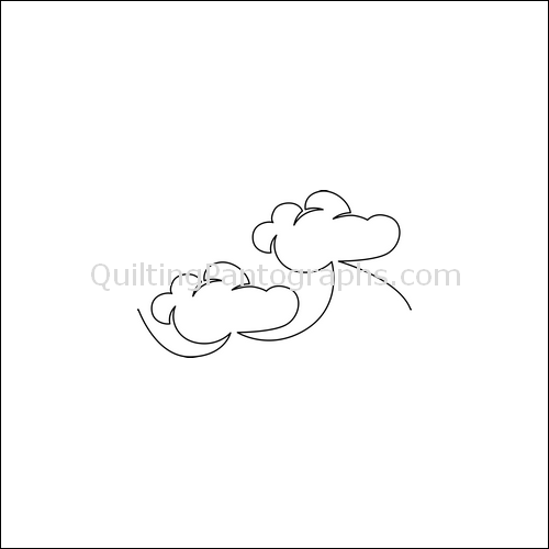 Fluffy Clouds  - quilting pantograph