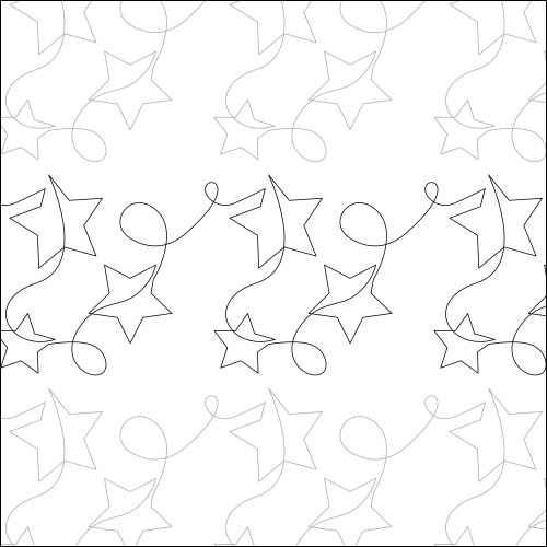 Lucky Stars - quilting pantograph