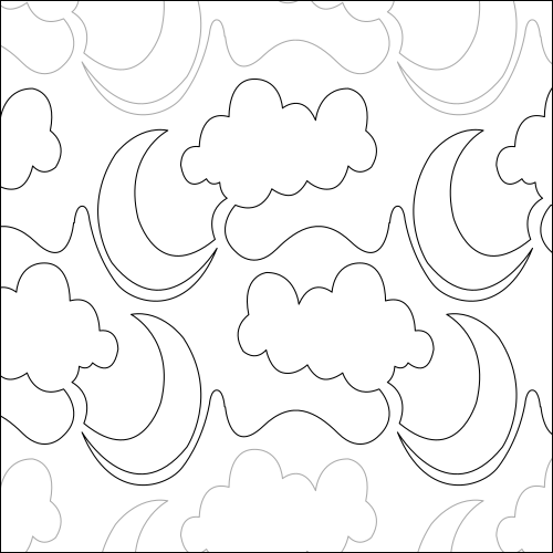 Moon Cloud - quilting pantograph