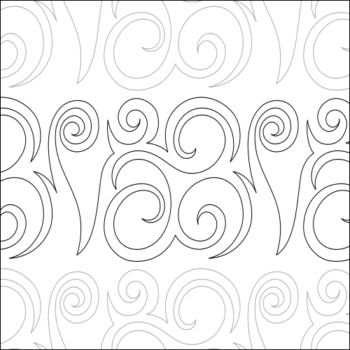 Cozy Swirls - quilting pantograph