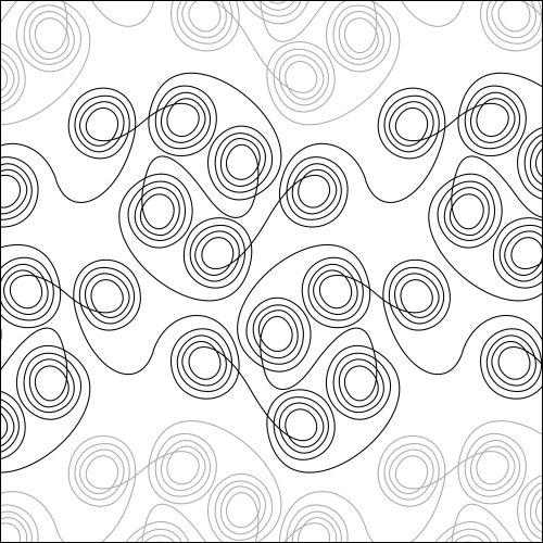 Curly Swirly - quilting pantograph