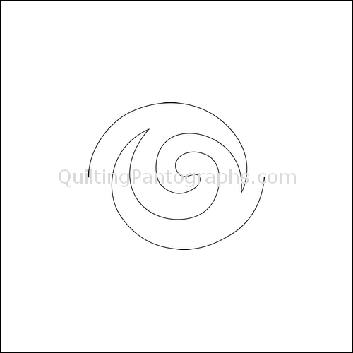 Fire Ball Swirls - quilting pantograph