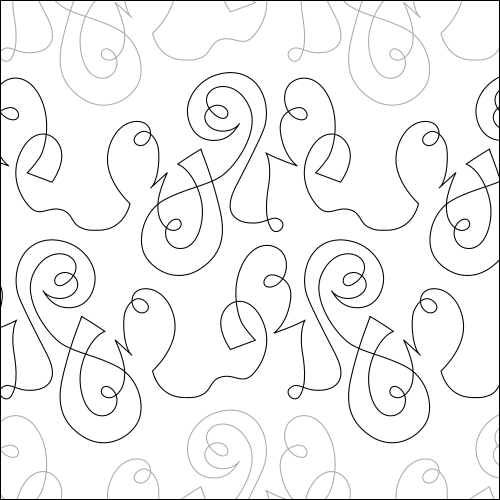 Jazzy Swirls - quilting pantograph