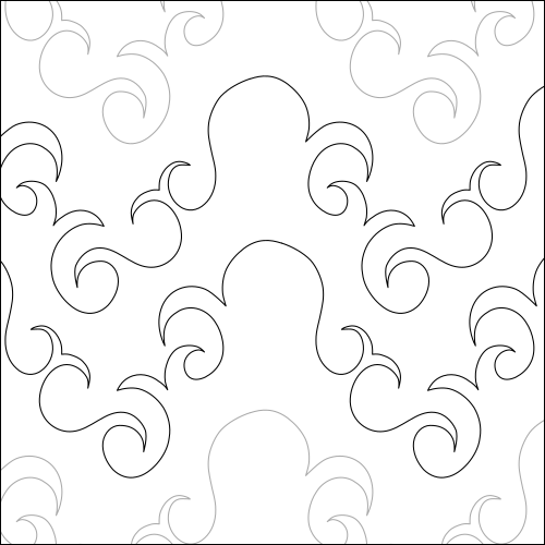 Octopus Swirls - quilting pantograph