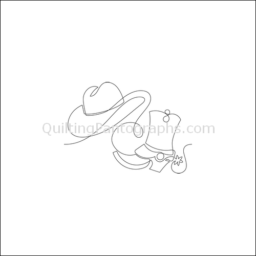 Cowboy Rodeo - quilting pantograph
