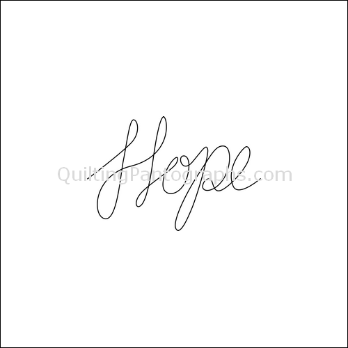 Hope Eternal - quilting pantograph