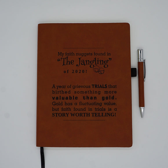 Leather-Like Jangle Journal/Free Ornament!