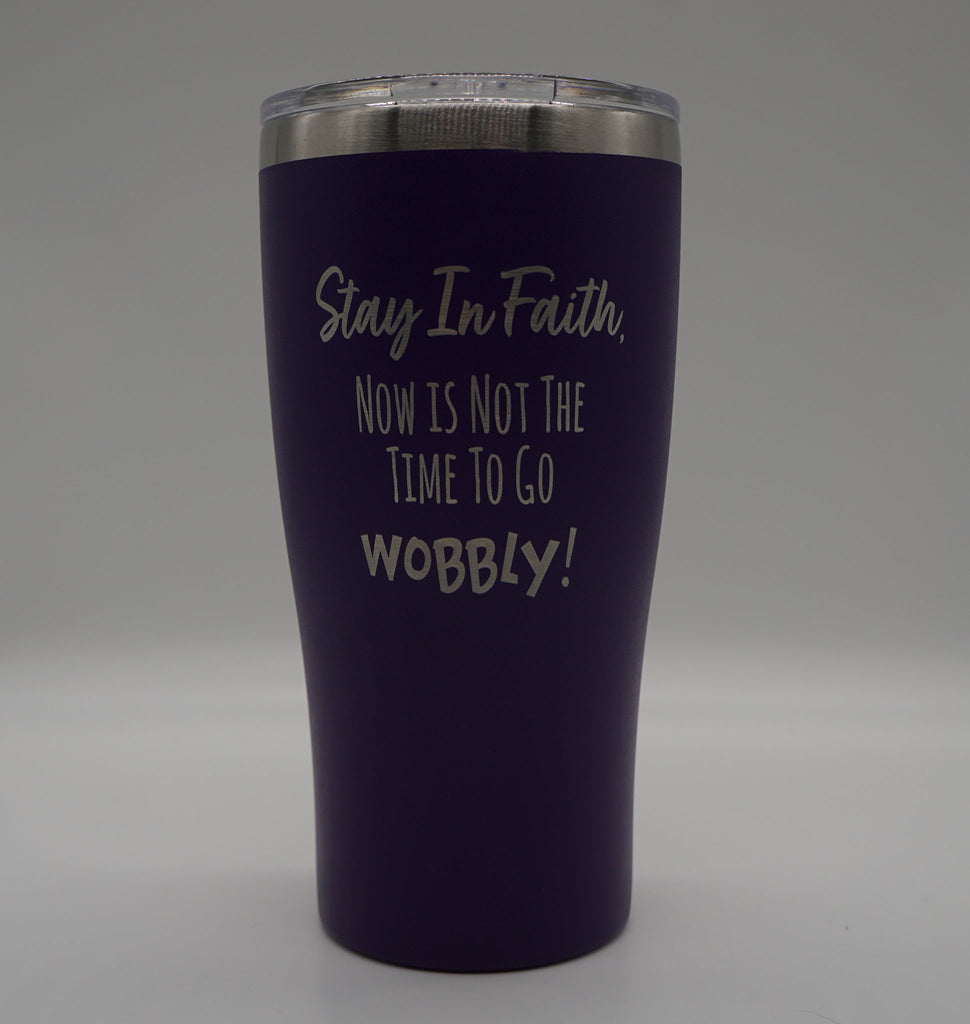 STAY IN FAITH IMPRINT DESIGN - 20 oz Double-Walled Insulated TUMBLER