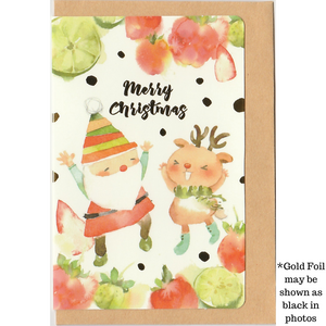 M1007 - Fruity Christmas (Gold Foil) *mini card