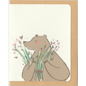 M1021 - Whoosh Bear -  Free Hugs *mini card