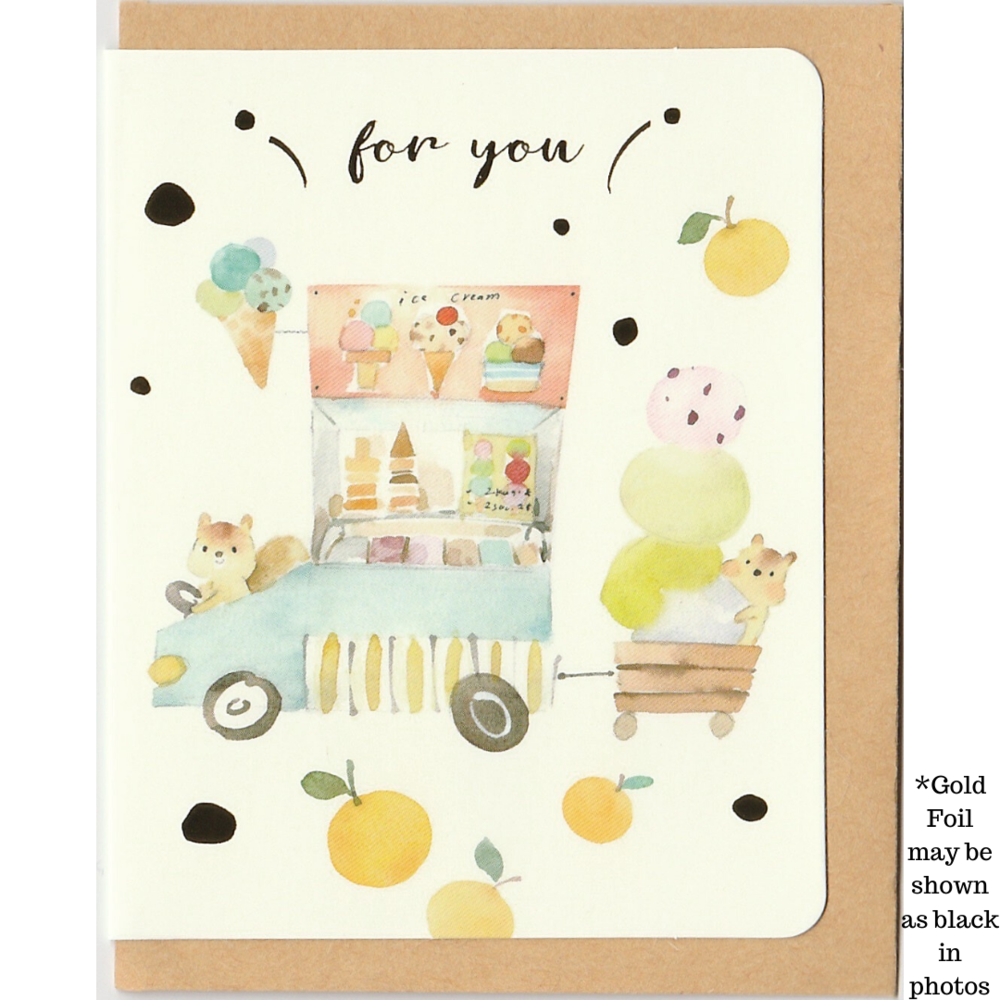 M1014 - Ice Cream For You (Gold Foil) *mini card