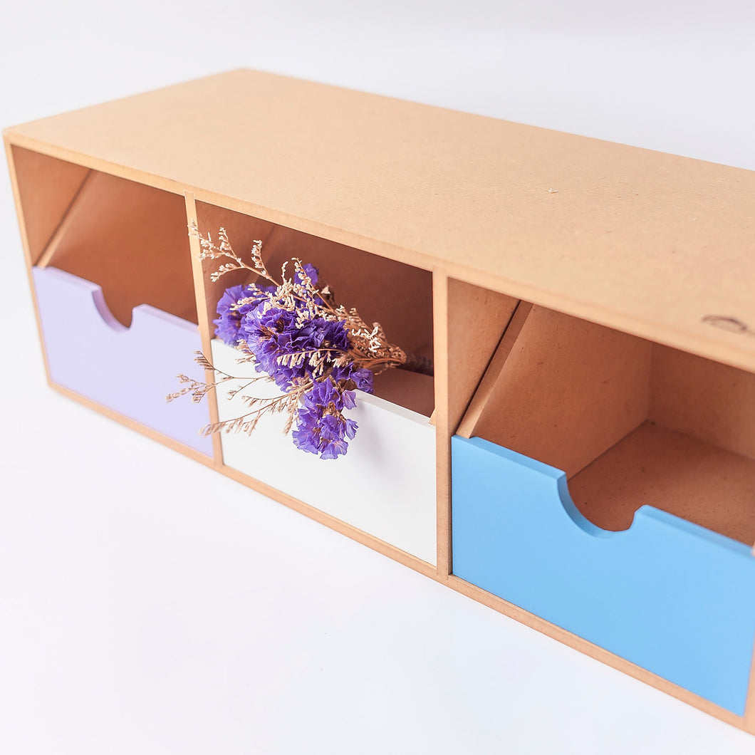 3 Compartment Desk Organizer (Wooden)