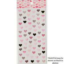 Load image into Gallery viewer, S1023 - Pink Hearts (Gold Foil)