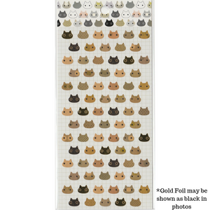 S1024 - Kitty Cat - Kraft Paper (Gold Foil)