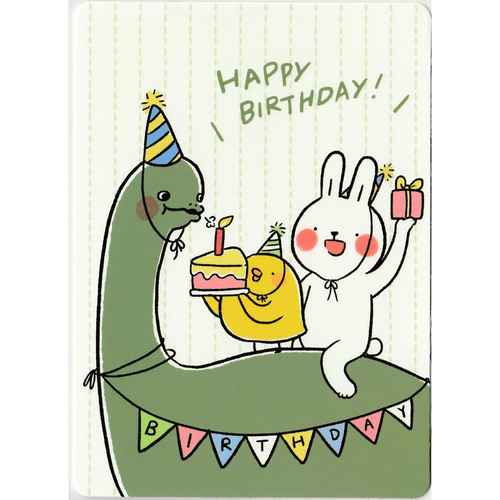 C1047 - Lazy Rabbit & Mr. Chu - Birthday *standard card