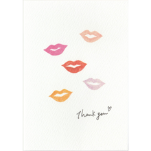 Load image into Gallery viewer, C1056 - Lip Print Thank You *standard card