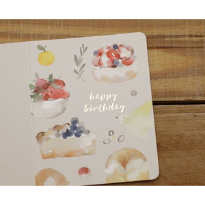M1006 - Delicious Happy Birthday (Gold Foil) *mini card