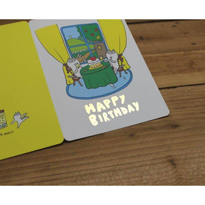 C1036 - Kitty Birthday (Gold Foil) *standard card