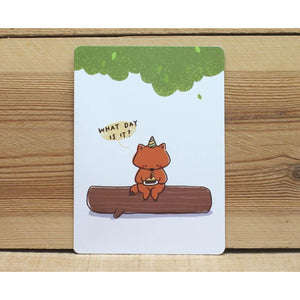 C1048 - Mandie - Birthday (Fox) *standard card