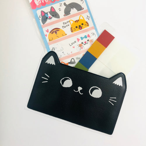 Cat Ears Adhesive Pockets - Black