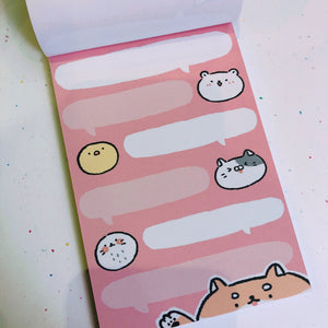 Cute Zoo Notepad - Looking Out