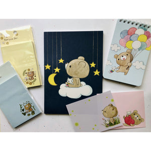 Dear Little Bear Starry Night Notebook *grid