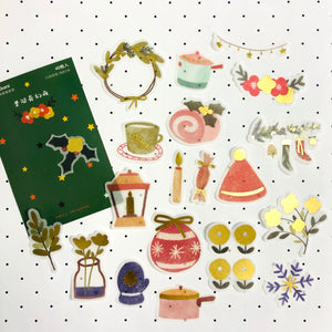 F1019 - Magical Christmas Night *washi paper with gold foil