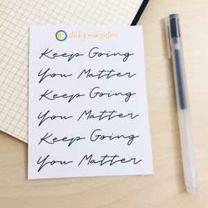 SRS1032 - Keep Going Sticker Sheet