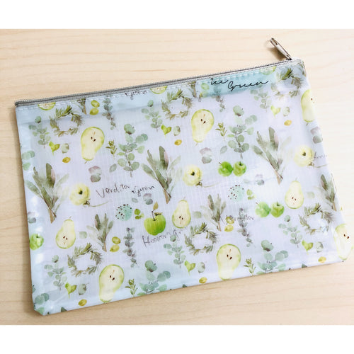 Herbal Green Zipper Pouch