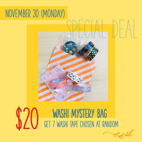 Cyber Monday Washi Tape Mystery Bag