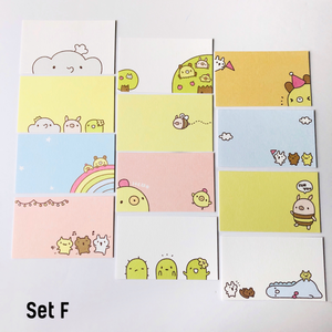 Set of 12 Cute Note Cards