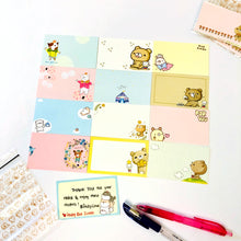 Load image into Gallery viewer, Set of 12 Cute Note Cards