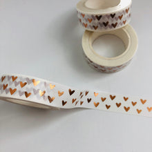 Load image into Gallery viewer, W1045 - Rose Gold Foil Hearts