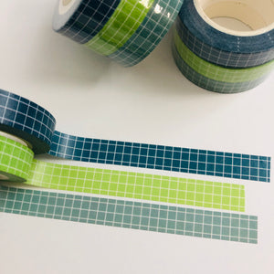 W1049 - Blue & Green Checkered (3 rolls)