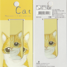 Load image into Gallery viewer, Yellow Kitty Cat *magnetic bookmark