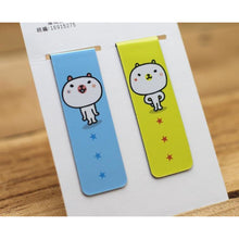 Load image into Gallery viewer, White Bear *magnetic bookmark x 2