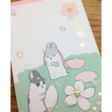 Load image into Gallery viewer, Machiko Bunny Cherry Blossom Notepad