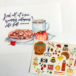 Mandie - Fall Favorites *postcard