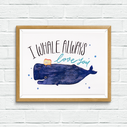 Mandie - I Whale Always Love You *print